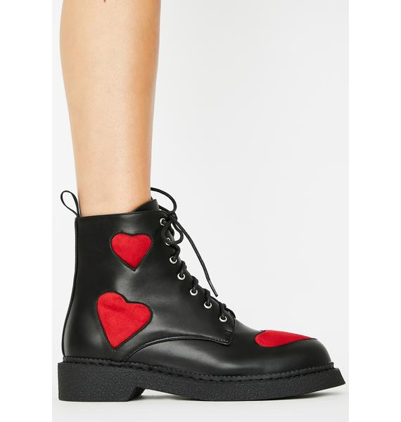 Lamoda Catchin' Feels Combat Boots