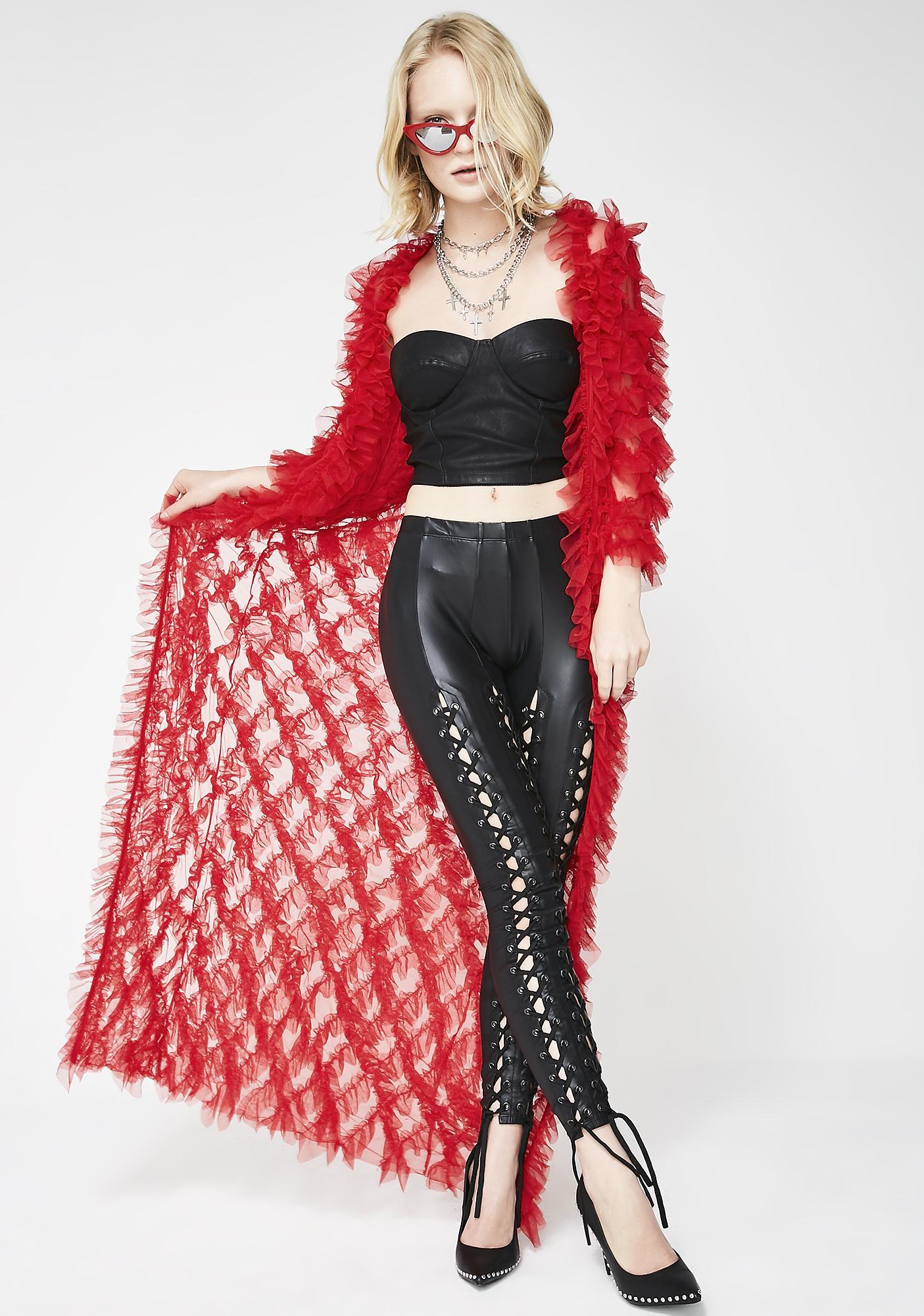 Kiki Riki Ring Of Fire Sheer Kimono