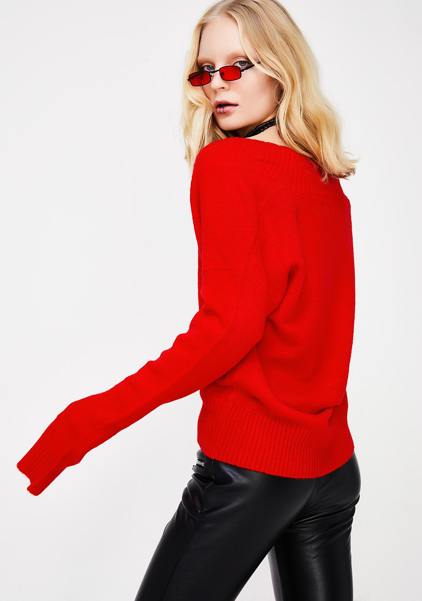 Cherry Topping Knit Sweater