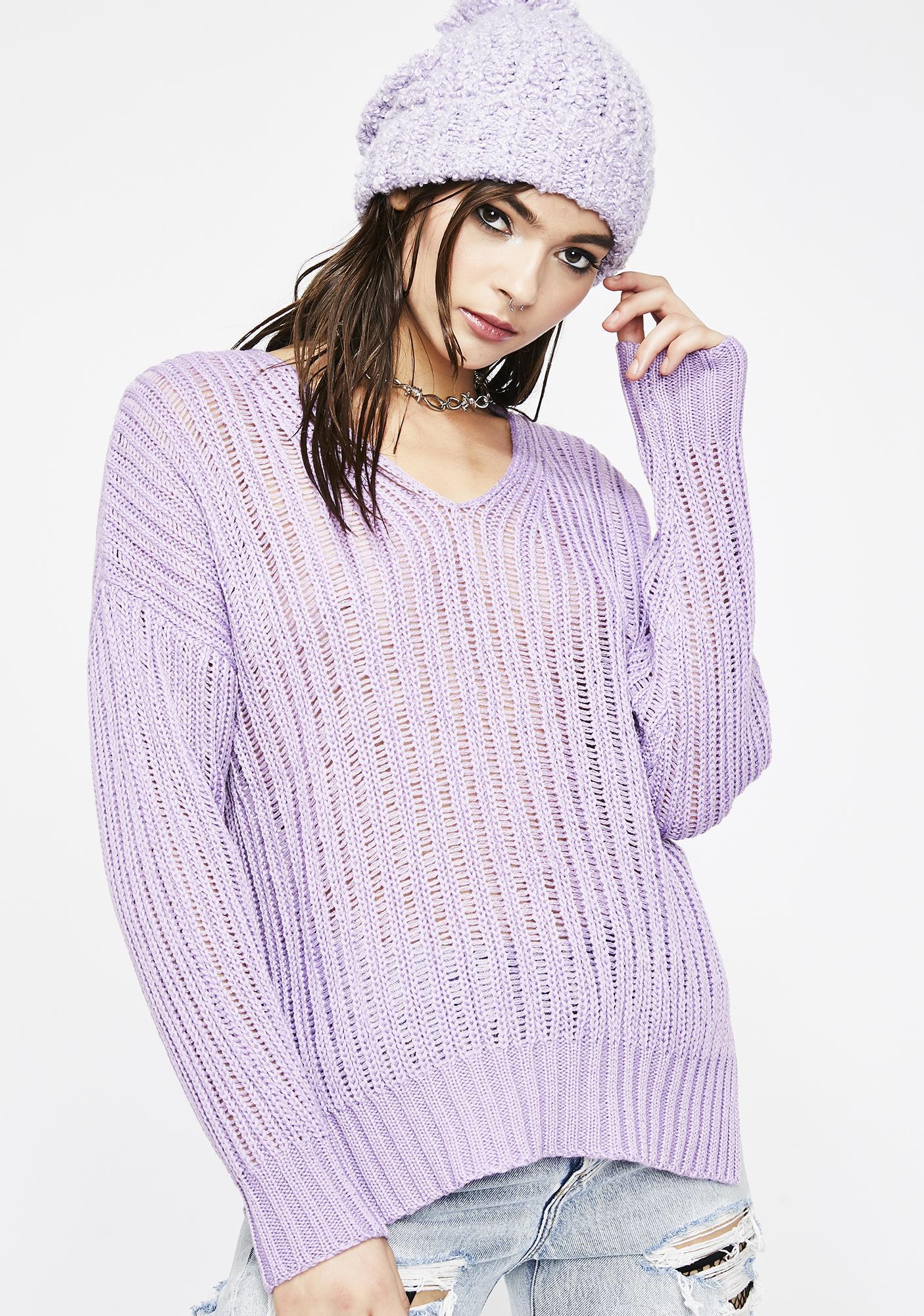 d0244cec84fafe Knit Sweater V Neck Rib | Dolls Kill