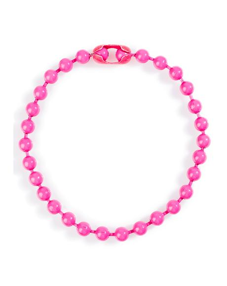 Hott Pink Ball 'N Chain Necklace