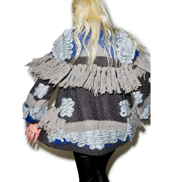 For Love & Lemons Marte Fringe Cardigan