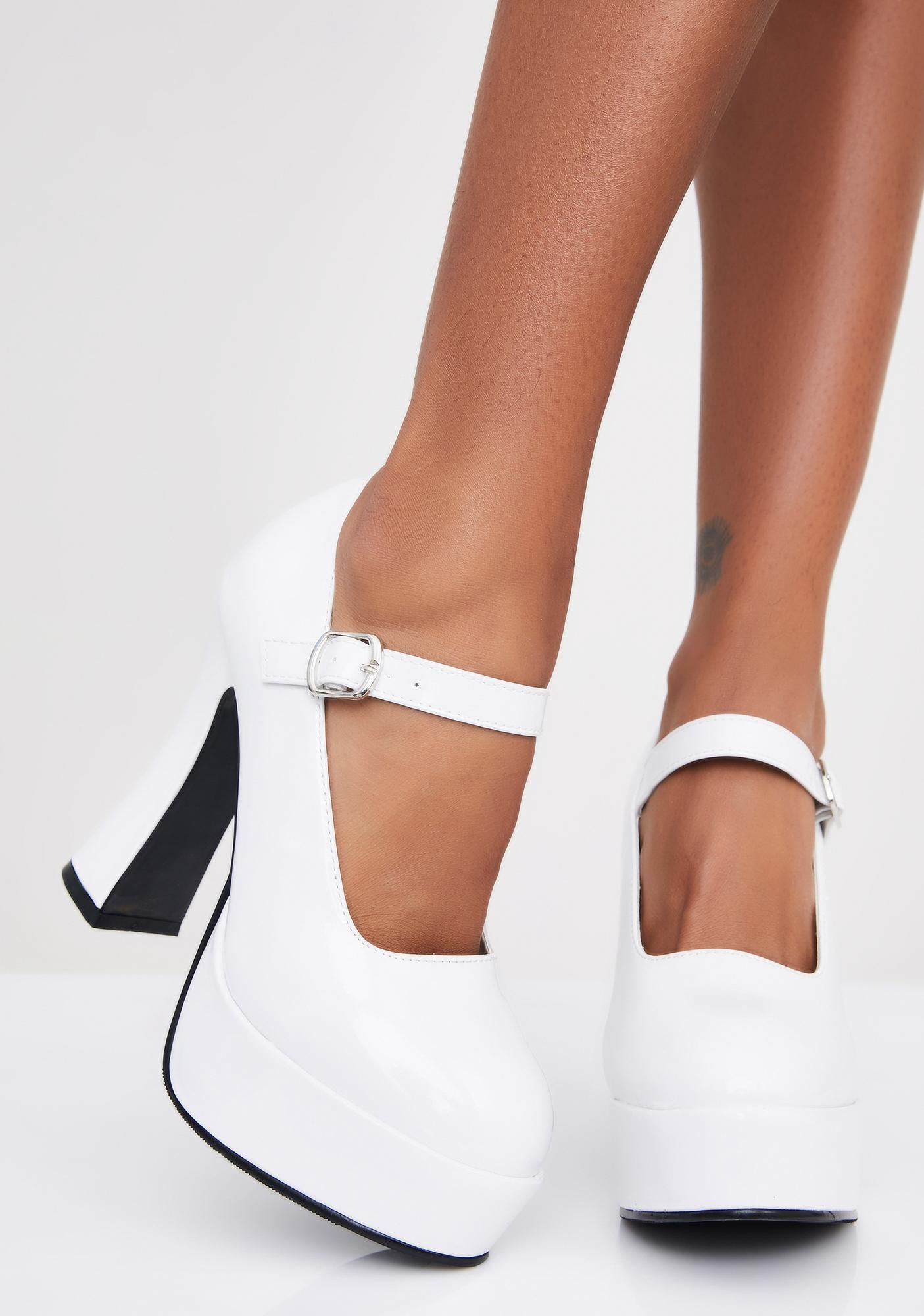Heavenly Vamp Tramp Platform Heels