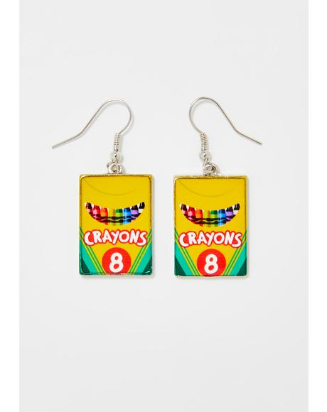 Get Ur Cray-On Earrings