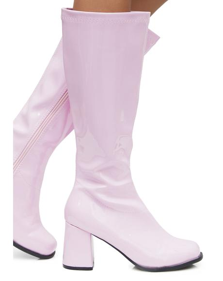 Blush Go-Go Baby Boots
