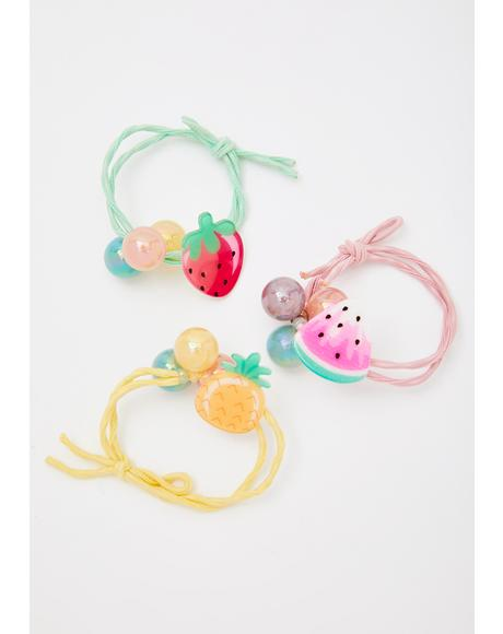 Lookin' Juicy Hair Ties