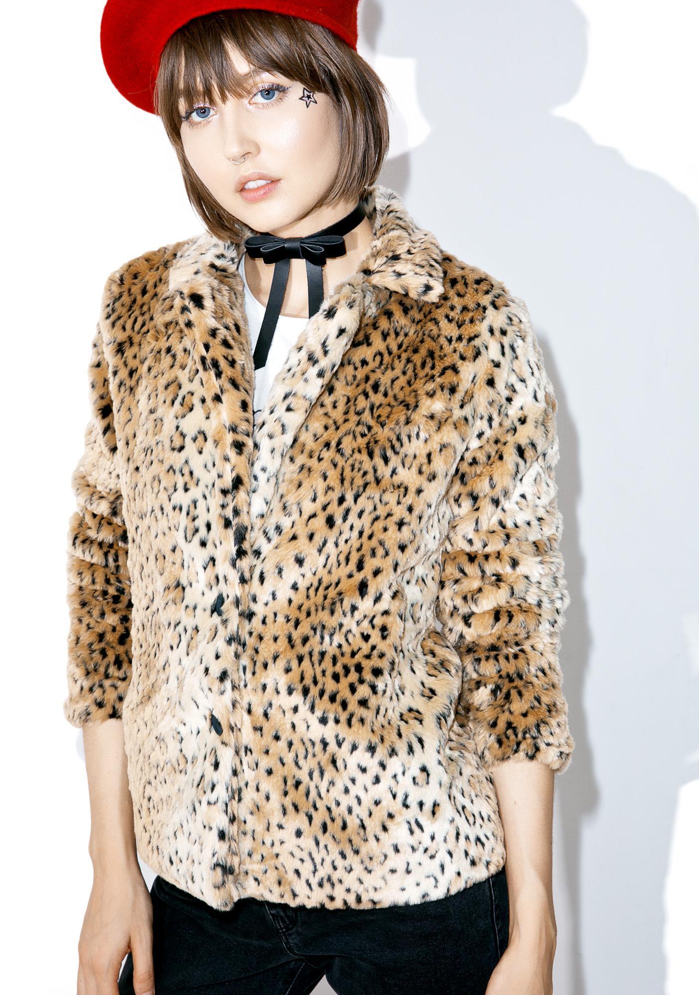 Edie Leopard Jacket