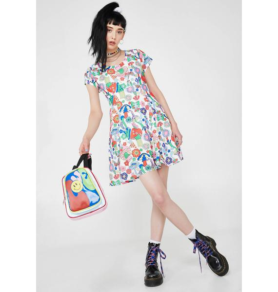 Current Mood Surreal World Babydoll Dress
