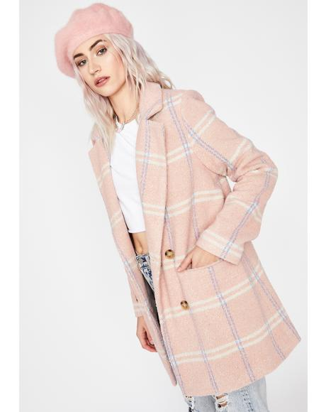 Candy Floss Plaid Coat