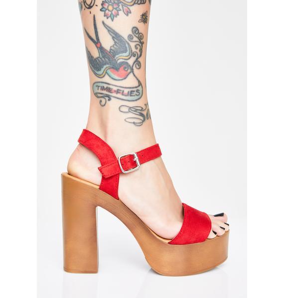 Hottie Glamour Gossip Platform Heels