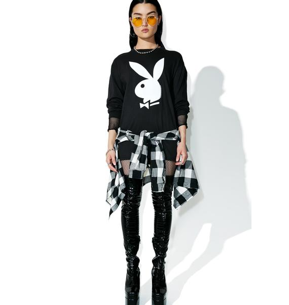 Junk Food Clothing Playboy Long Sleeve Tee