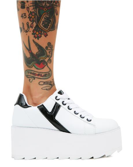 Lala Strype Platform Sneakers