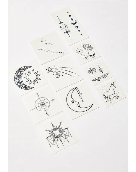 The Cosmic Temporary Tattoo Pack