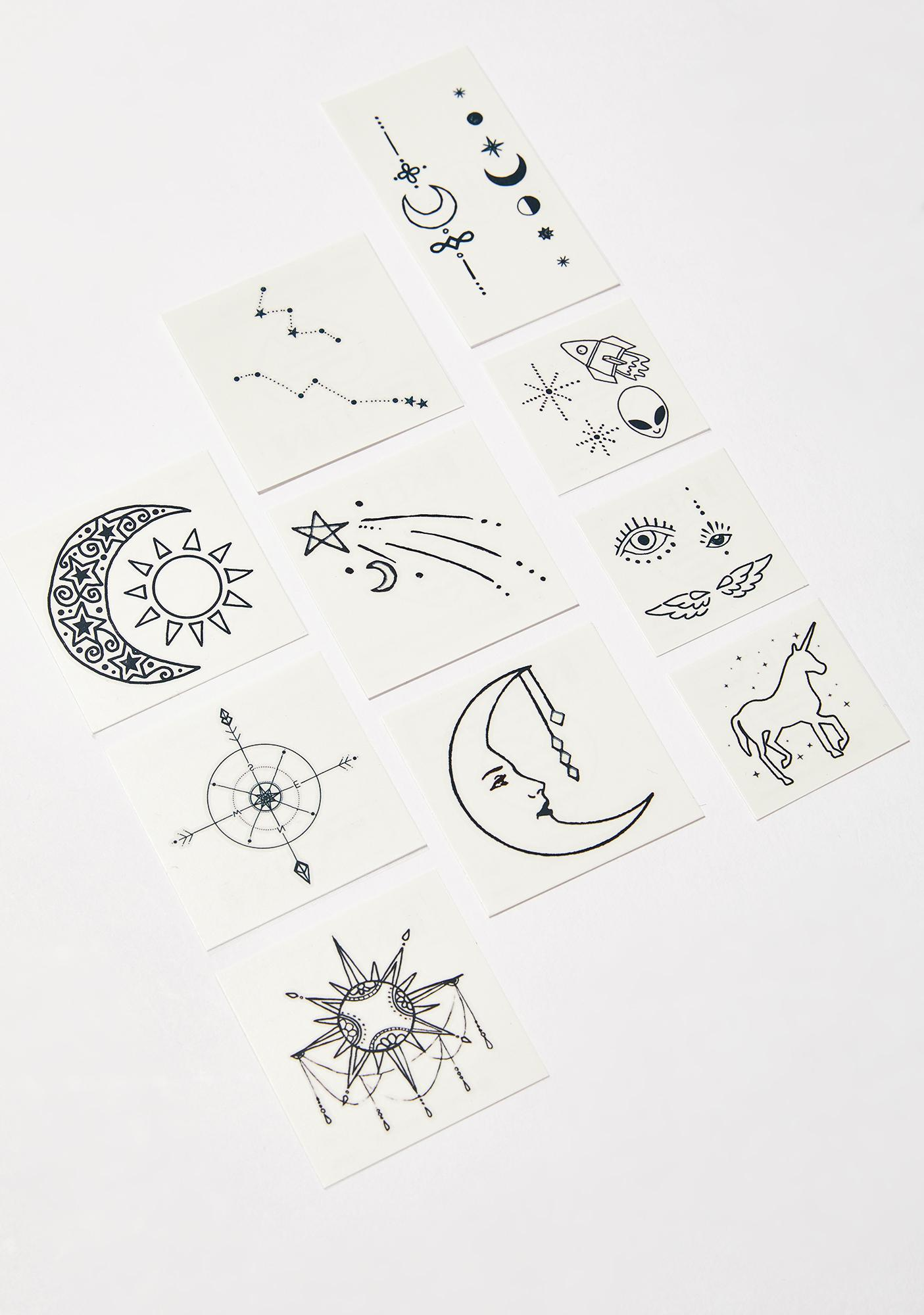 INKED by Dani The Cosmic Temporary Tattoo Pack
