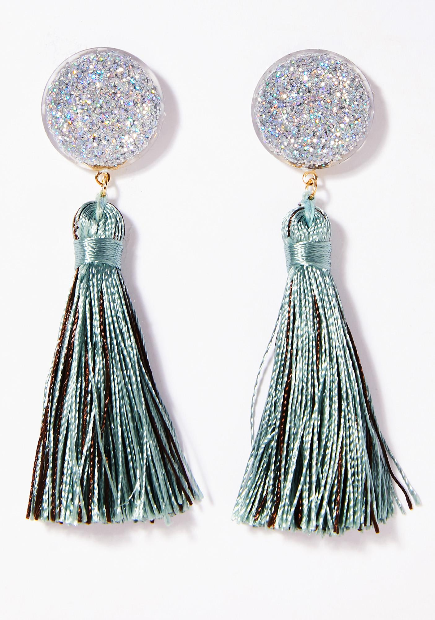 earrings empire navy tassel evelyn tassle missy