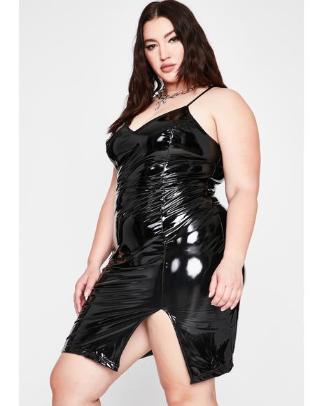 Pretty Frisky Risks Vinyl Dress