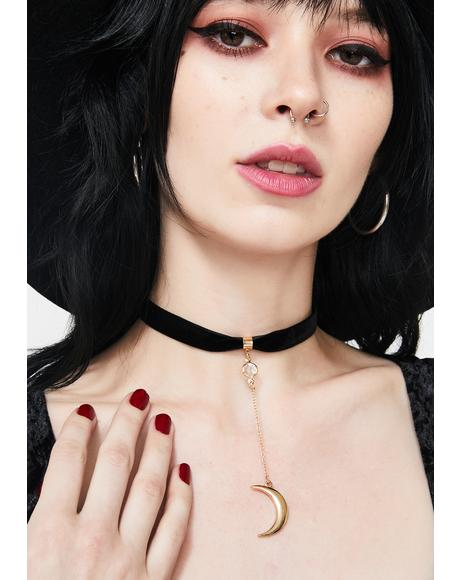 Golden Moonlight Drop Choker