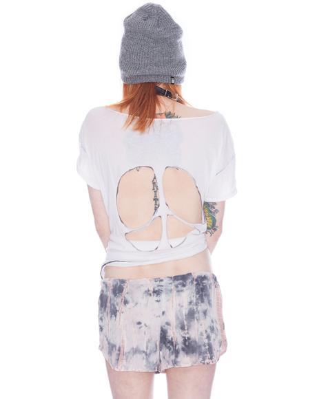 Tie Dye Silk Mini Shorts