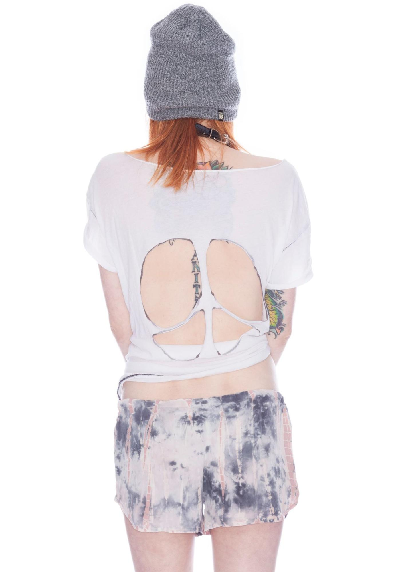 Chaser Tie Dye Silk Mini Shorts