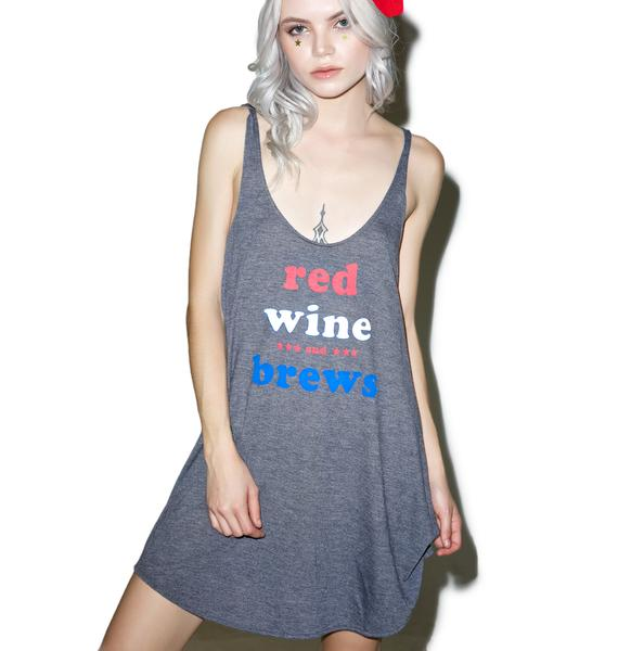 Wildfox Couture Red, Wine & Brews Indiana Tank