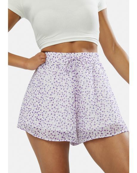 Sunday Times Ditsy High Waist Shorts