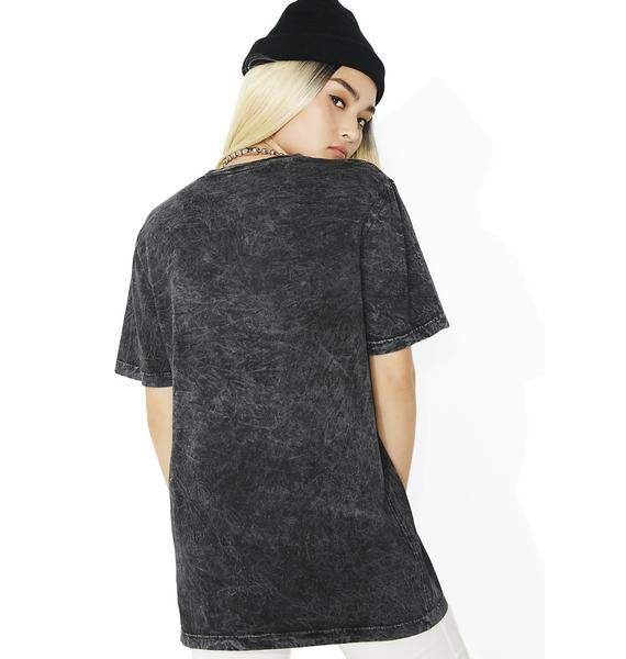 HUF Black Bar Logo Overdyed Tee