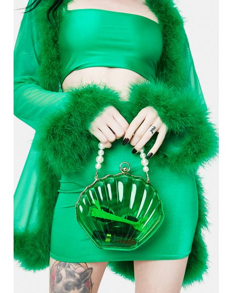 Emerald Sea The Day Shell Pearl Strap Bag