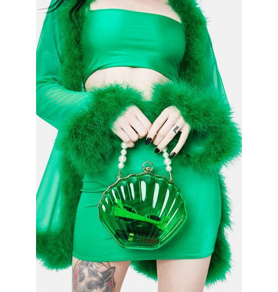 Emerald Sea The Day Shell Pearl Strap Bag