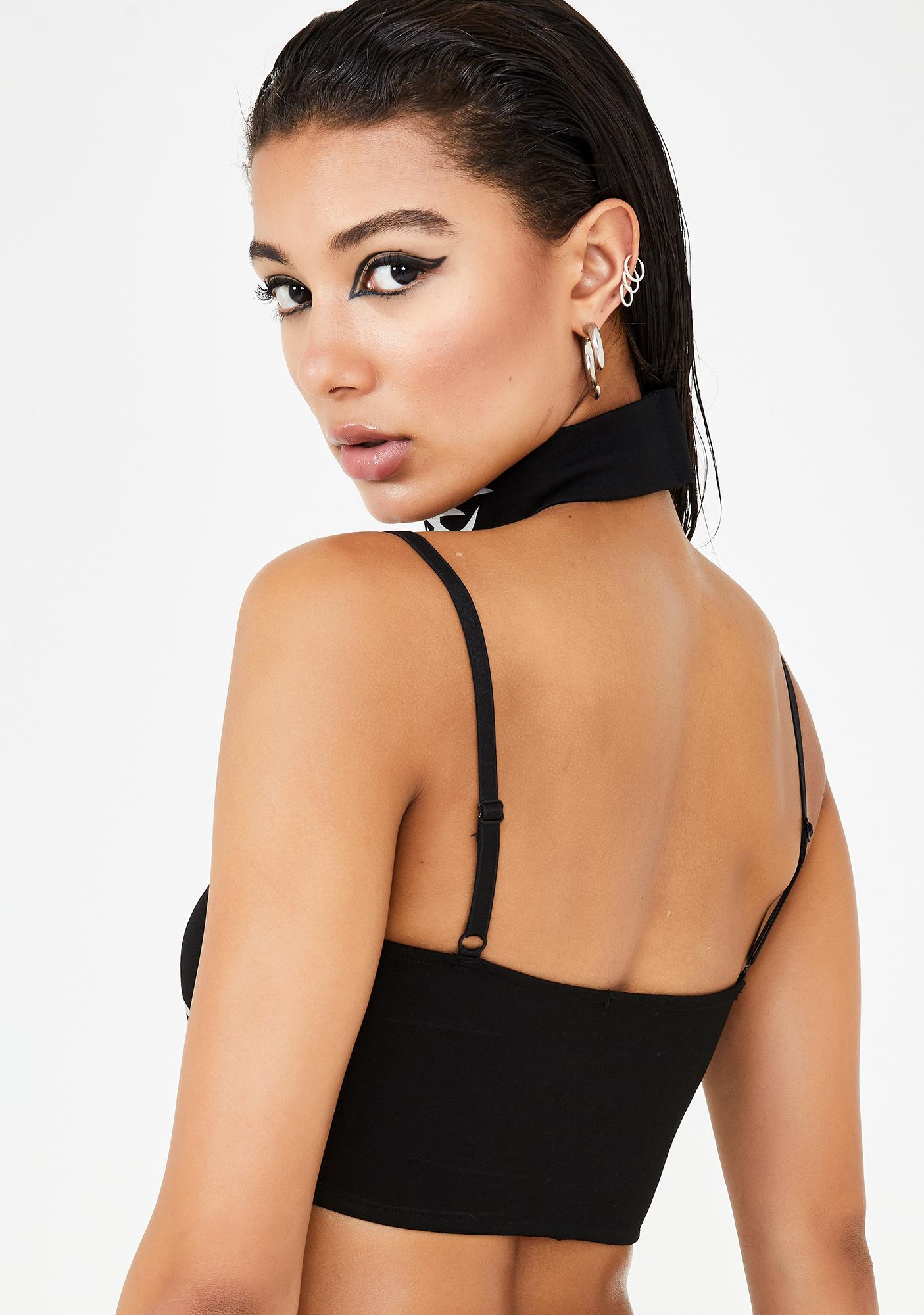 Club Exx Mark Of The Beast Reflective Bra Top