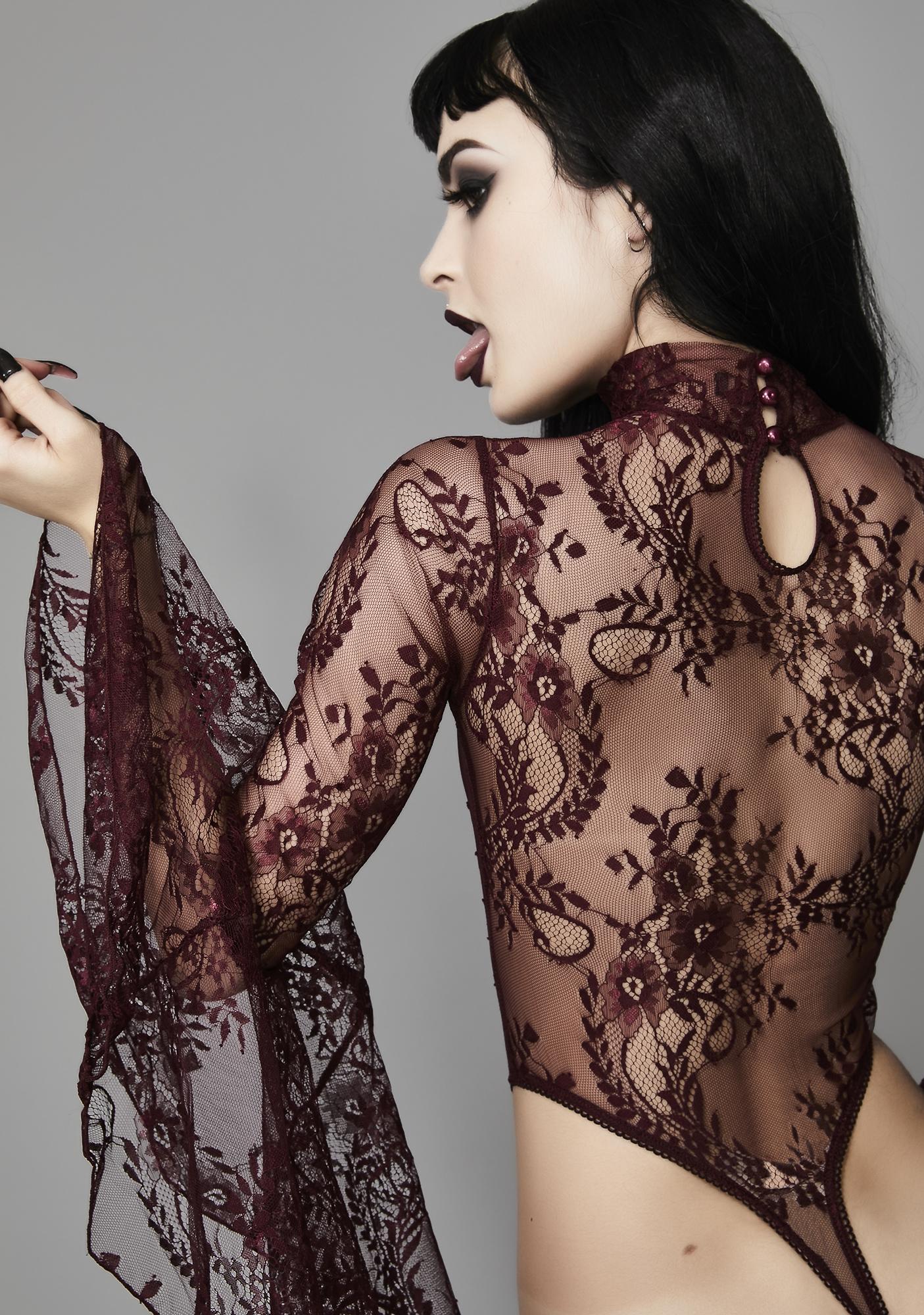 Widow Wine Witching Hour Lace Bodysuit