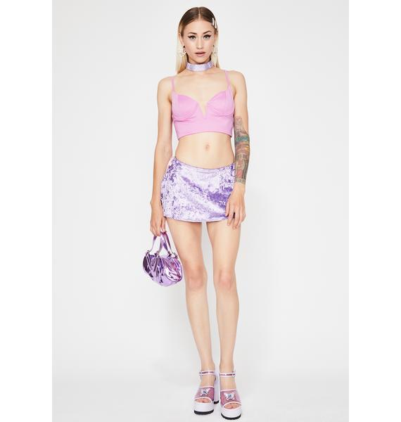 Lilac Kute Karma Crop Top