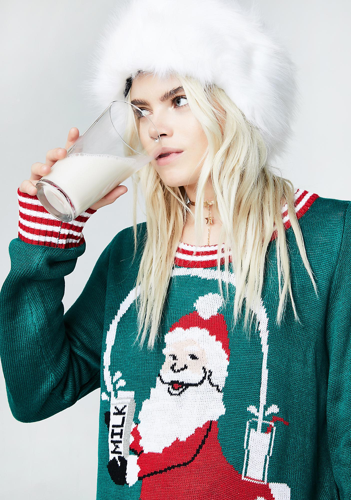 Tipsy Elves Santa Break The Internet Sweater