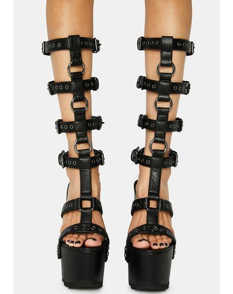 Cage You Platform Heels