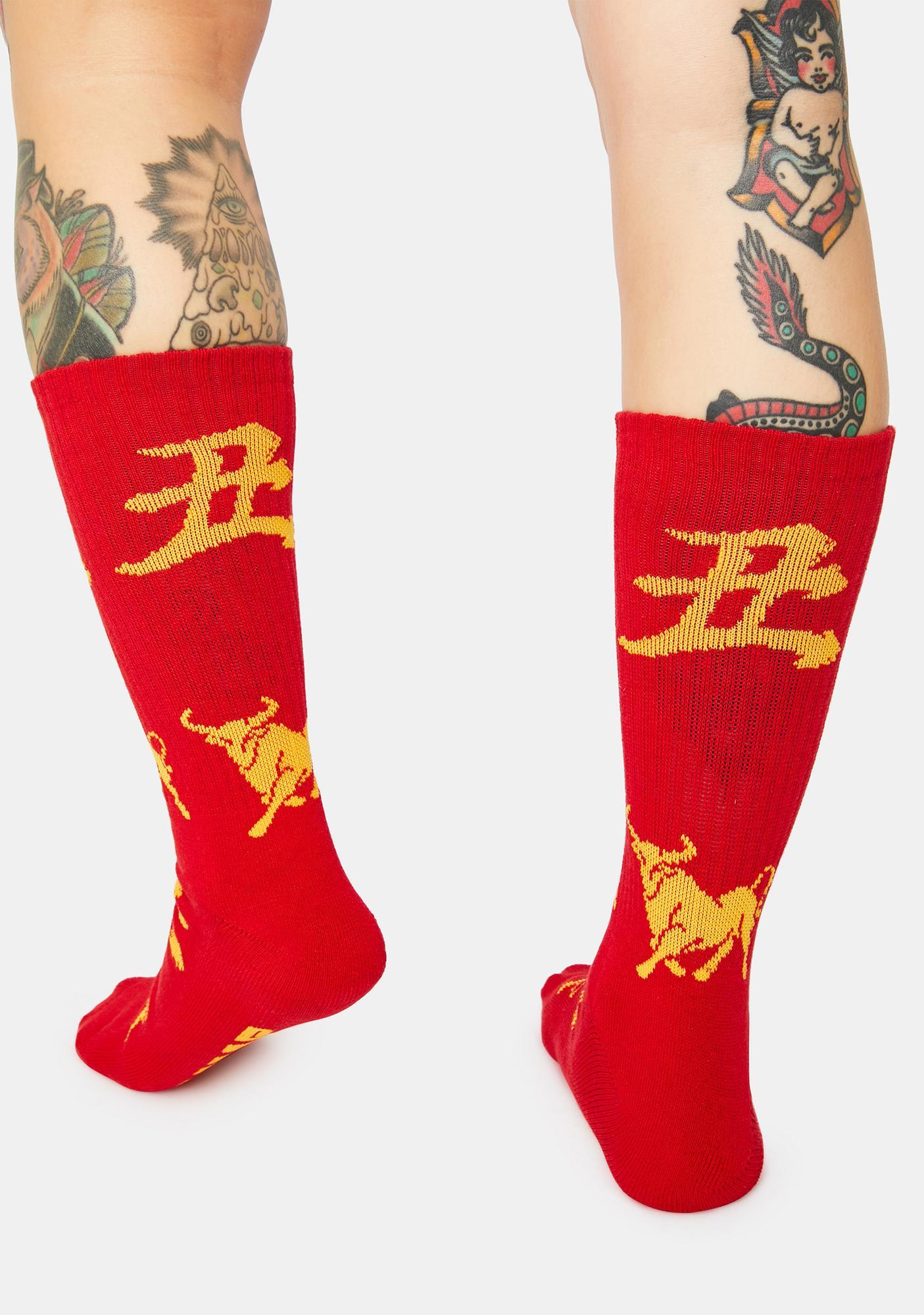 HUF Year Of The Ox Crew Socks