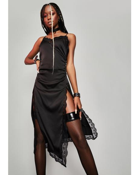 Viral Vixen Satin Midi Dress
