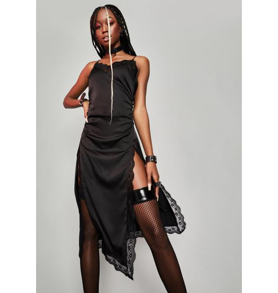 HOROSCOPEZ Viral Vixen Satin Midi Dress