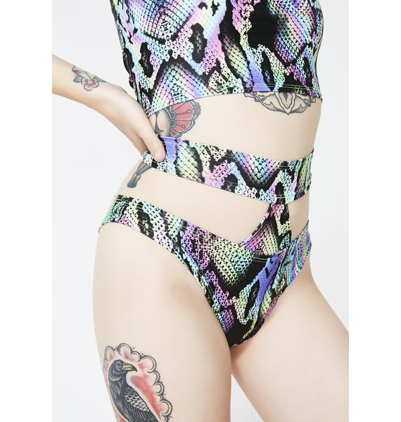 Rheabfunky Rainbow Snake Shorts