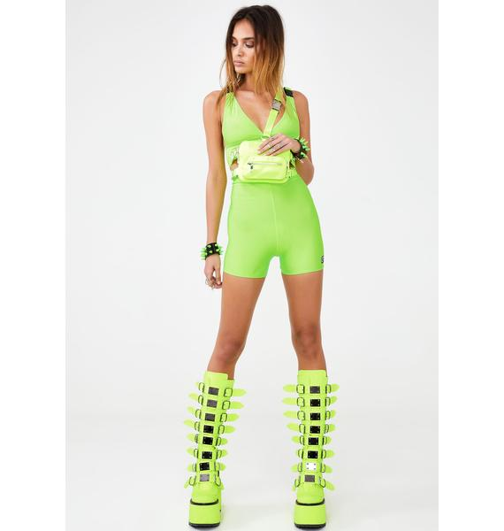 LOVE TOO TRUE Slime Biker Shorts