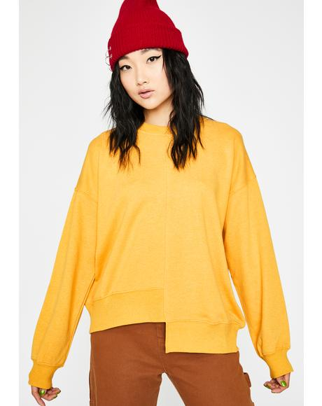 Mellow Off-Kilter Pullover Sweatshirt