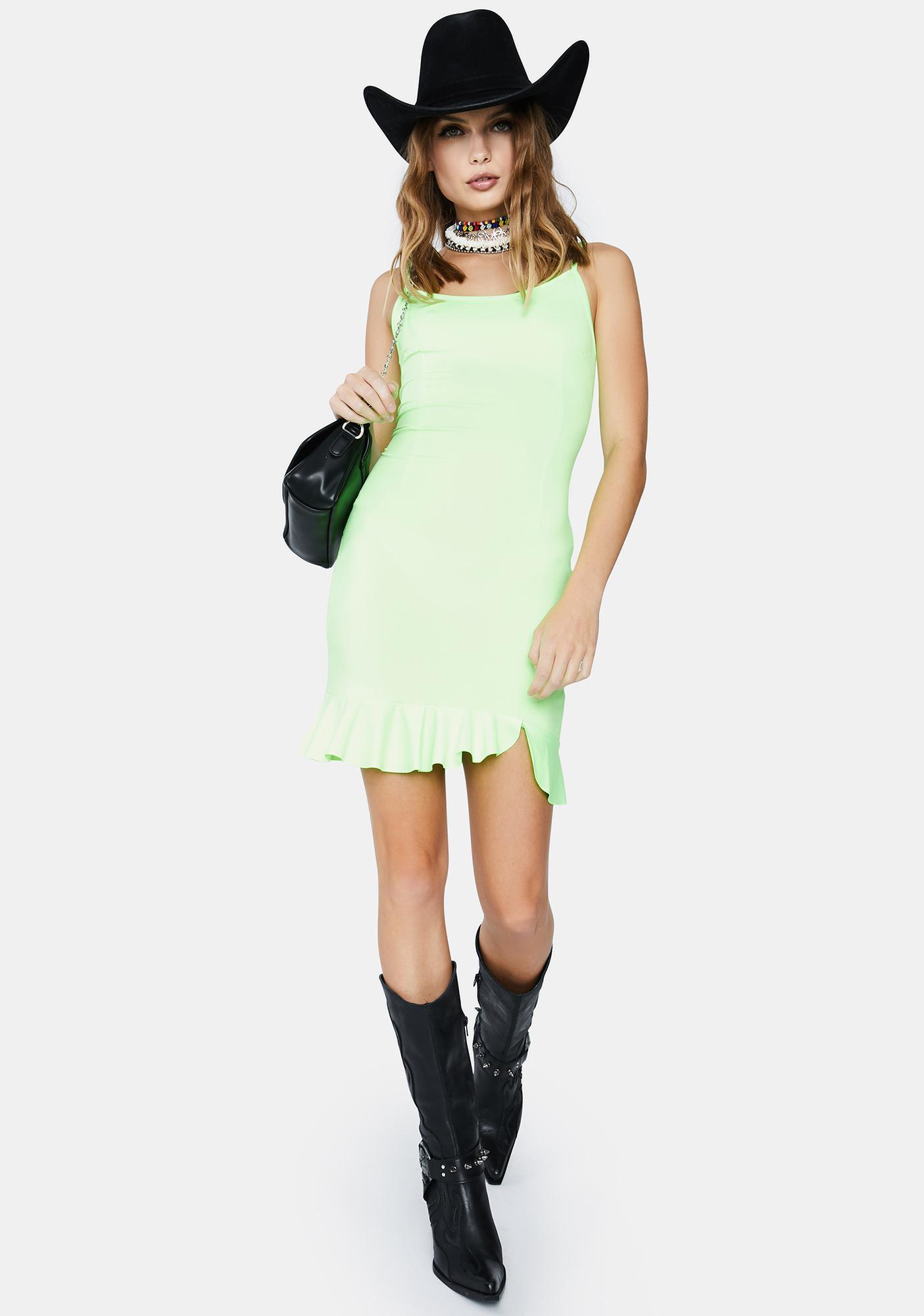 Kiki Riki Neon Heart Bodycon Dress