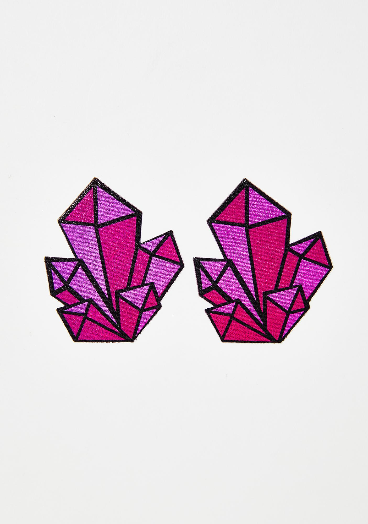 Pastease Holographic Pink Crystal Cluster Pasties