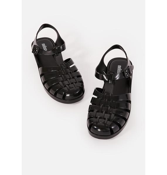 Melissa Dark Possession Shiny Jelly Sandals