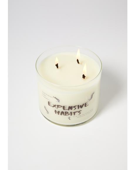 Expensive Habits Three Wick Soy Candle