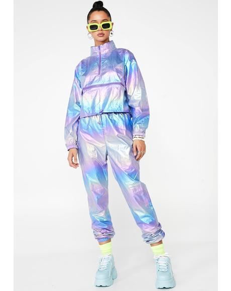 Indigo Space Runner Metallic Tracksuit