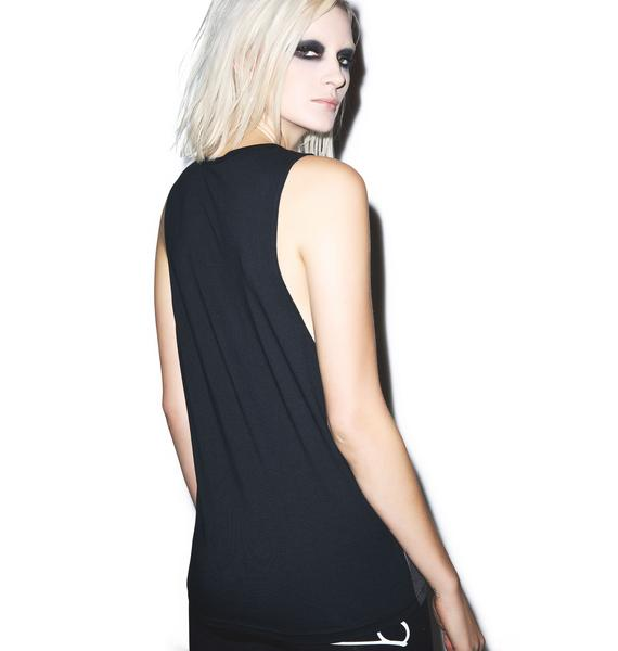 Black Scale Lady Of Whisper Tank