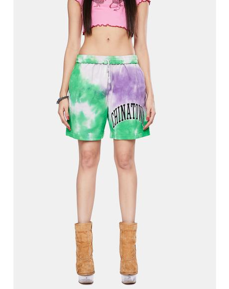 Arc Left Tie Dye Sweatshorts