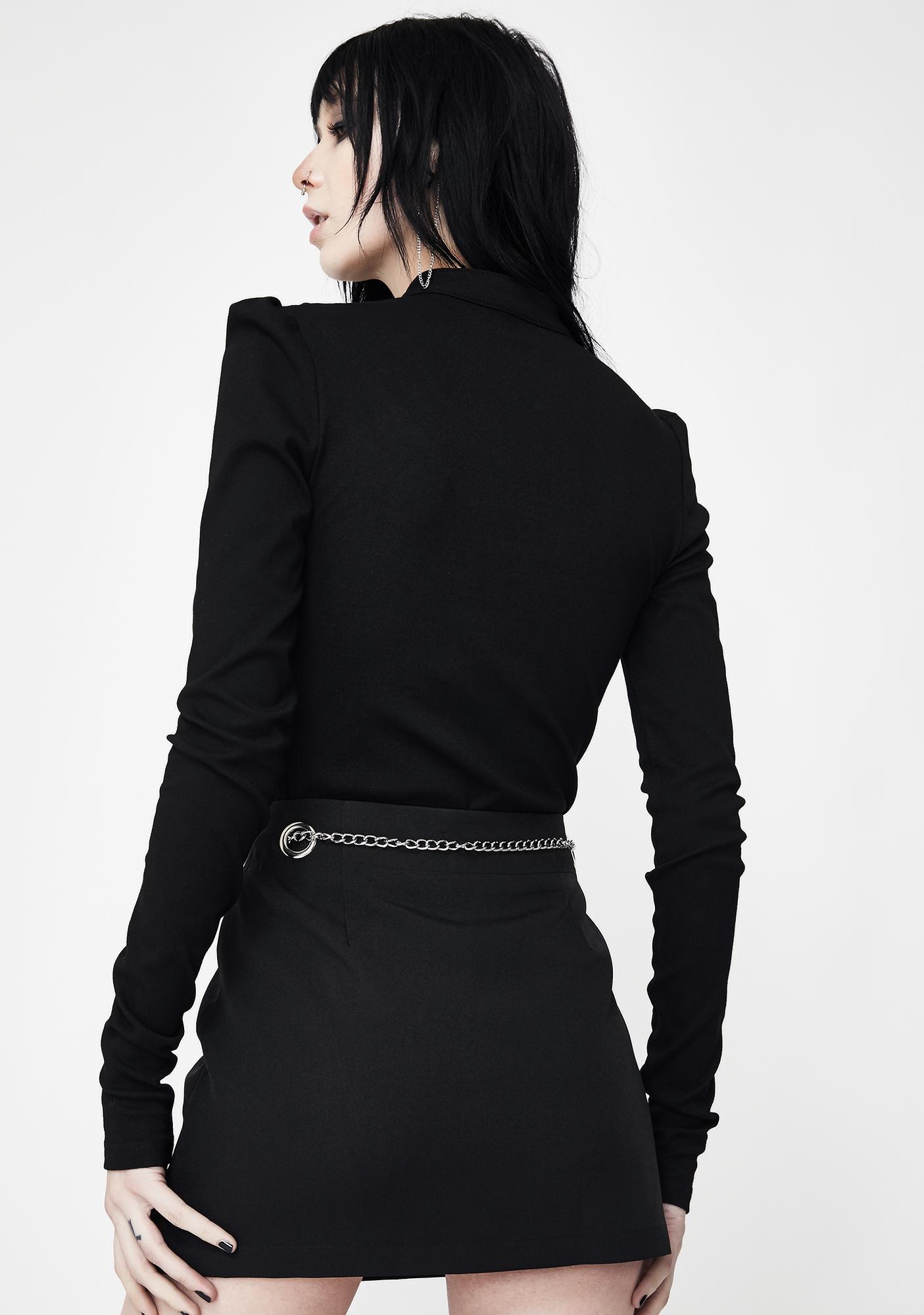 Punk Rave Chain Belt A-Line Skirt