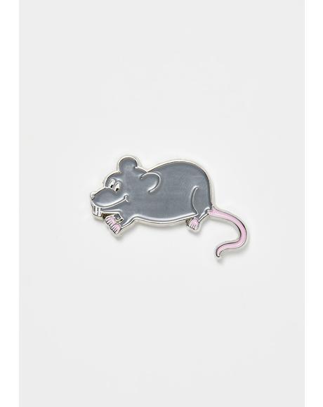 Little Rat Pin Badge
