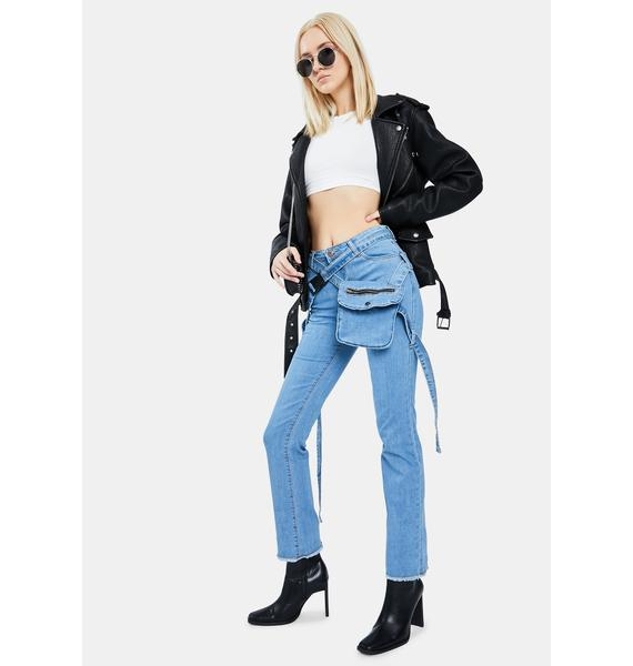 My Own Icon Utility Belt Jeans