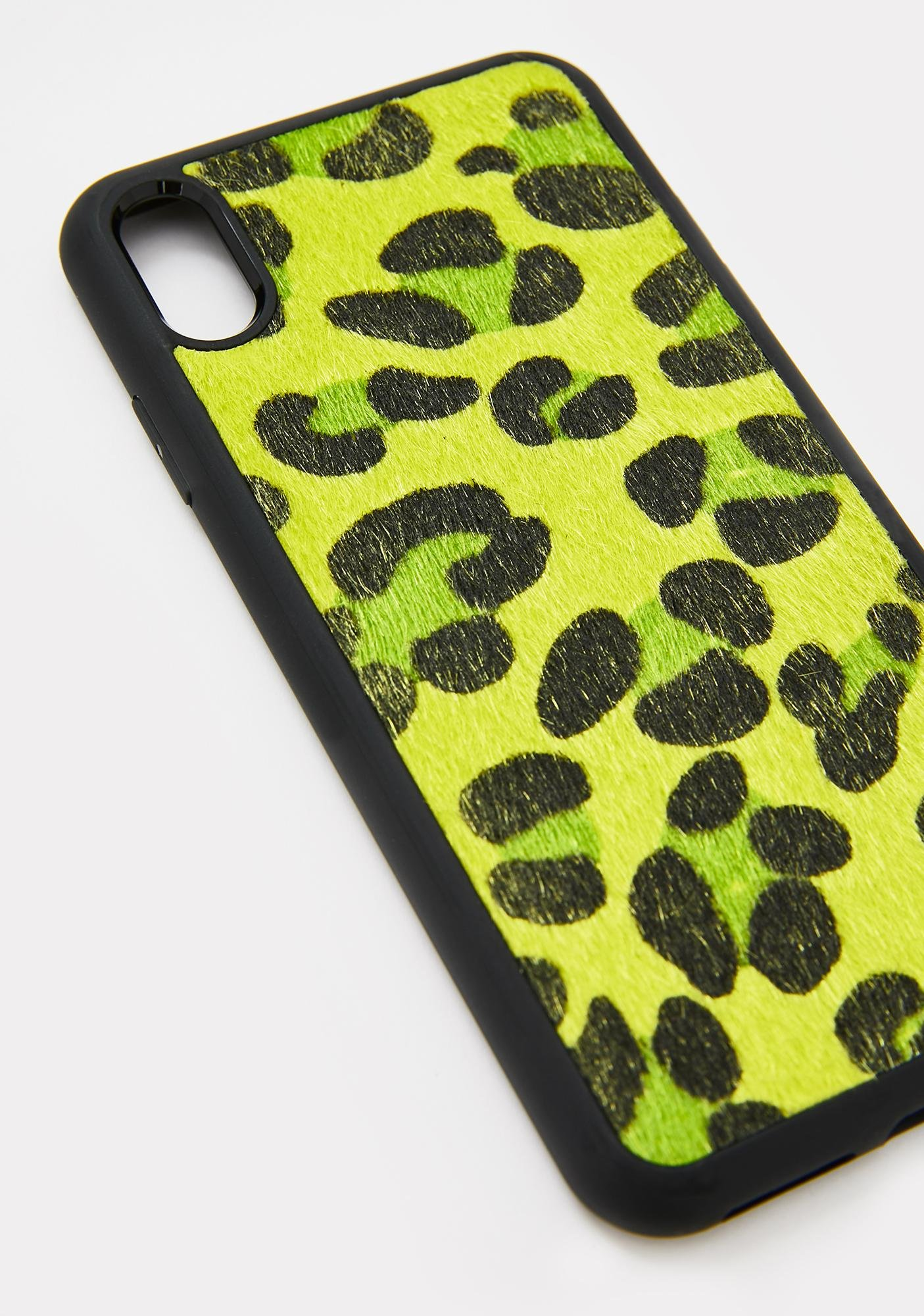 Georgia Mae Neon Green Leopard IPhone Case